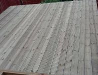 Decking at Rear of House - Merthyr Vale